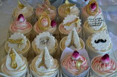 French Themed wedding cupcakes