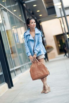 Into the Blue :: Denim trench...Love this trench!
