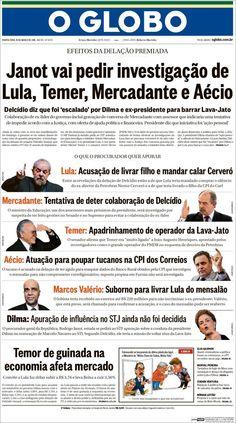#20160316 #BRASIL #BRAZIL #RIOdeJANEIRO Quarta-feira 16 MAR 2016 #OGLOBOjornalBRASIL http://en.kiosko.net/br/2016-03-16/np/br_oglobo.html