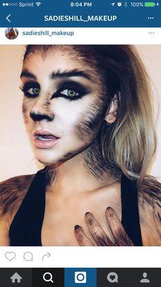 Werewolve Halloween Makeup Looks, Wolf Make Up Halloween, Werewolf Costume Diy, Halloween 2017, Sister Halloween Costumes, Halloween Diy, Werewolf Makeup, Halloween Inspo, Halloween Party Supplies