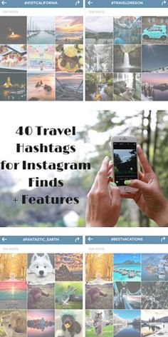 where to find the best travel photos on instagram -- 40 travel hashtags for instagram finds + features!
