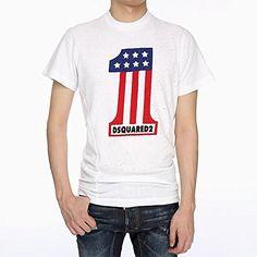 (ディースクエアード) DSQUARED2 Men's T-shirt ビンテージパンチング加工Tシャツ GD03…
