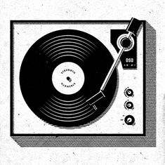 David Sizemore - Round and Round turntable graphic Dj Music, Music Stuff, Music Is Life, Music Gif, Record Players, Record Player Tattoo, Oldschool, Music Images, Vinyl Art