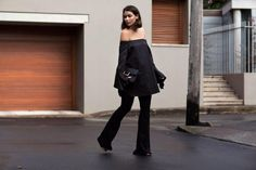 Monochromatic, all-black outfit ideas