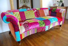 Cinples: Patchwork no sofá