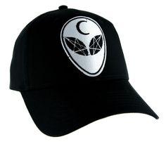 Witchcraft Alien Crescent Moon Hat Baseball Cap Alternative Clothing Astrology