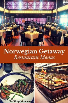 Brand New 2017: Norwegian Getaway Restaurant Menus