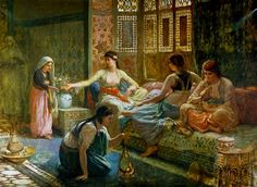 Leon-Auguste-Adolphe Belly-Interior of a Harem