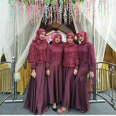 Likes, 46 Comments - Gaun Bridal Hijab, Wedding Hijab, Muslim Fashion, Hijab Fashion, Women's Fashion, Hijab Style Dress, Dress Outfits, Bridesmaids, Bridesmaid Dresses