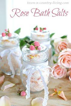 How to Make Rose Bath Salts