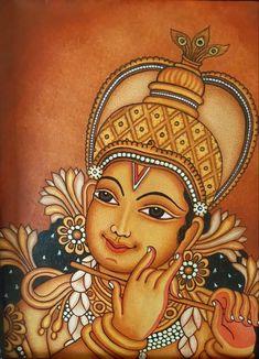 Kerala Mural Painting, Wall Painting Decor, Pichwai Paintings, Indian Art Paintings, Kalamkari Painting, Madhubani Painting, Symbolic Art, Spiritual Paintings, Ganesha Painting