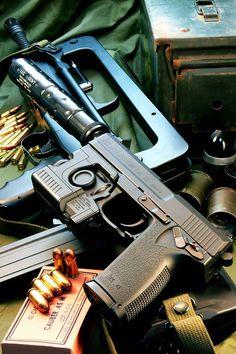 "H&K MK23 Socom Pistol, AKA ""The Hogleg"" for it's massive size."
