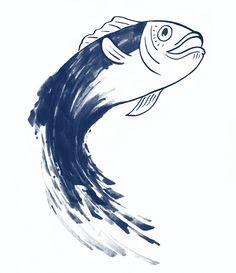 #Draw and #Inking #Fish #Illustration