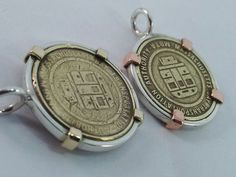 Coin bezel, Personalized coin bezels in Silver, Copper and Brass