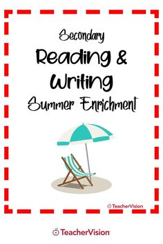 This summer reading enrichment packet is filled with reading activities for high school students to build or freshen reading and writing skills for summer learning. It features 4 challenging reading activities that combine skill-building with plenty of writing practice. Reading Resources, Reading Activities, Reading Skills, Writing Skills, Teacher Resources, Argumentative Writing, Narrative Writing, Enrichment Activities, Writing Practice
