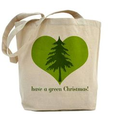 Green Christmas Tote Bag - $13.99.