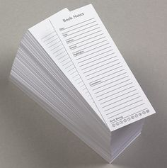 Book Notes: Cool way to keep track of notes & highlights while reading all on one handy bookmark.