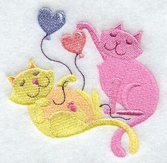 Love Is in the Air – Cats design (F8590) from www.Emblibrary.com