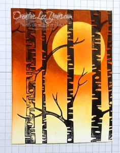 Spooky Trees by Wendy Lee, Stampin' Up! Fall Cards, Winter Cards, Christmas Cards, Spooky Background, Spooky Trees, Birthday Cards For Men, Male Birthday, Embossed Cards, Stamping Up Cards