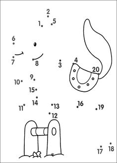 Easy Connect the Dots Montessori Math, Kindergarten Math, Teaching Math, Preschool Activities, Learning Activities, Kids Learning, Dot To Dot Printables, Connect The Dots, Worksheets For Kids