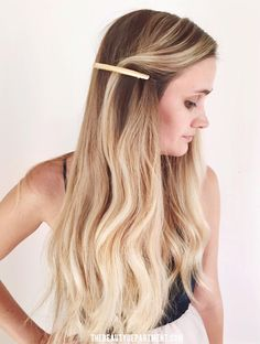 obsessed w this $8 barrette and all the possibilities!