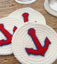 DIY Nautical Coasters | Learn how to make your own rope coasters! Perfect for a summer party