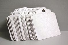 50pcs Shimmer grey cards Wedding favors Metallic by karliboutique