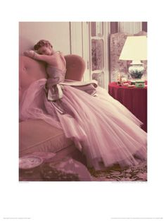 Jeannie Patchett, Paris, Vogue 1950 by Norman Parkinson. Giclee print from Art.com.