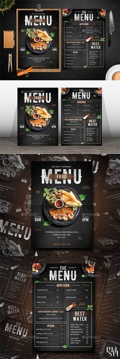 This Ai & Psd file set on mm + Bleed. ready to print and well organized in layers. You can easily change everything like color, image, text and elements. Menu Restaurant, Resturant Menu, Restaurant Menu Template, Restaurant Design, Bar Menu, Pizza Menu Design, Cafe Menu Design, Food Menu Design, Menu Board Design