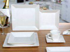 Jogo de Pratos Quadrados 3 Italy House, Cafe Interior Design, Living Room Kitchen, Tupperware, Kitchen Accessories, Kitchen Storage, Kitchenware, Kitchen Appliances, Plates