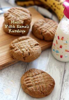 Muzlu Fıstık Ezmeli Kurabiye / Özge'nin Oltası (Banana and peanut butter cookies)