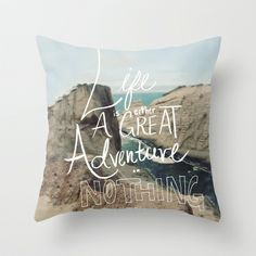 Great Adventure Throw Pillow by Leah Flores Designs - $20.00