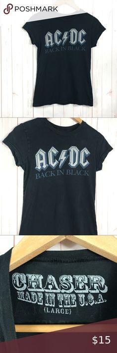 Brian Johnson heavy metal AC//DC RED LOGO OFFICIAL cotton T-SHIRT short sleeve