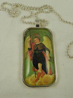 Religious Glass Tile Pendant Necklace by DesignsofFaithandJoy,