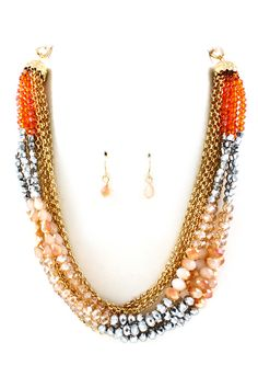 Vitrail Apricot Andrea Necklace | Awesome Selection of Chic Fashion Jewelry | Emma Stine Limited
