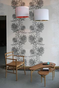 I've been daydreaming about this Thistle wallpaper by Timorous Beasties. I spotted a little piece of the print in interior shot somewhere and have been thinking about it ever since. So gorgeo… My Living Room, Interior Design Living Room, Living Room Designs, Living Room Decor, Thistle Wallpaper, Interior Room Decoration, Home Decor, Living Room Ornaments, Nathalie Du Pasquier