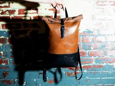 Roll Top Backpack by OleksynPrannyk on Etsy