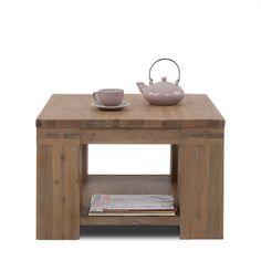 Meubels | Tafels | Square 2 65x65 cm, Hoektafel, Truffle, Acacia hout - De Bommel Meubelen