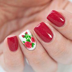 Diseños de Uñas en color Rosa 16