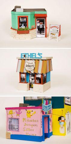Un village en carton par Ana Serrano