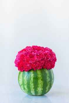 A DIY watermelon centerpiece perfect for summer parties.