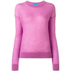 Mih Jeans Inka jumper (14.860 RUB) via Polyvore featuring tops, sweaters, pink, wool sweaters, mohair jumper, wool tops, pink sweater and woolen jumper