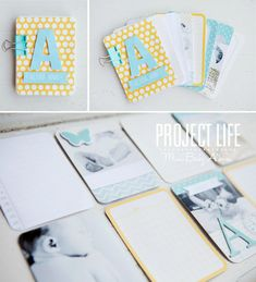 I like the idea of using the extra journaling cards to make a mini album!    simple as that: Project Life 2013: a mini baby album