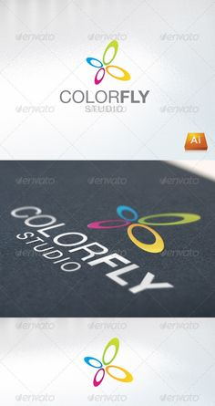 Colorfly Logo Design Template Vector #logotype Download it here: http://graphicriver.net/item/colorfly/666754?s_rank=1497?ref=nesto