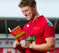 Rhys Priestland. Reading. Roald Dahl. Very nice smile... must be a good book!!