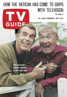 """TV Guide: July 16, 1966 - Fred MacMurray and William Demarest of """"My Three Sons"""""""