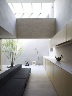 """design-art-architecture: """"House in Danbara by Suppose Design Office located in Hiroshima, Japan. Interior Architecture, Interior And Exterior, Küchen Design, House Design, Modern Design, Modern Art, Interior Minimalista, Minimalist Interior, Lofts"""