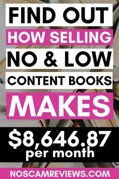 Find out how selling no content books makes $8,646.87 per month and how you can do that too and scale up even more!