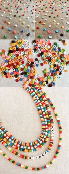 Diy Perler Bead Necklace, Diy Perler Beads, Perler Bead Art, Diy Necklace, Diy Perler Bead Crafts, Necklace Ideas, Diy Jewelry, Beaded Jewelry, Handmade Jewelry