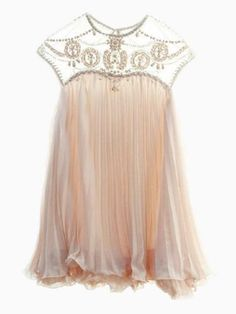 Cute Swing Dress With Organza Yoke |